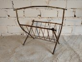 El Vinta: Brass bamboo style magazine rack (Furniture, Design, Vintage)