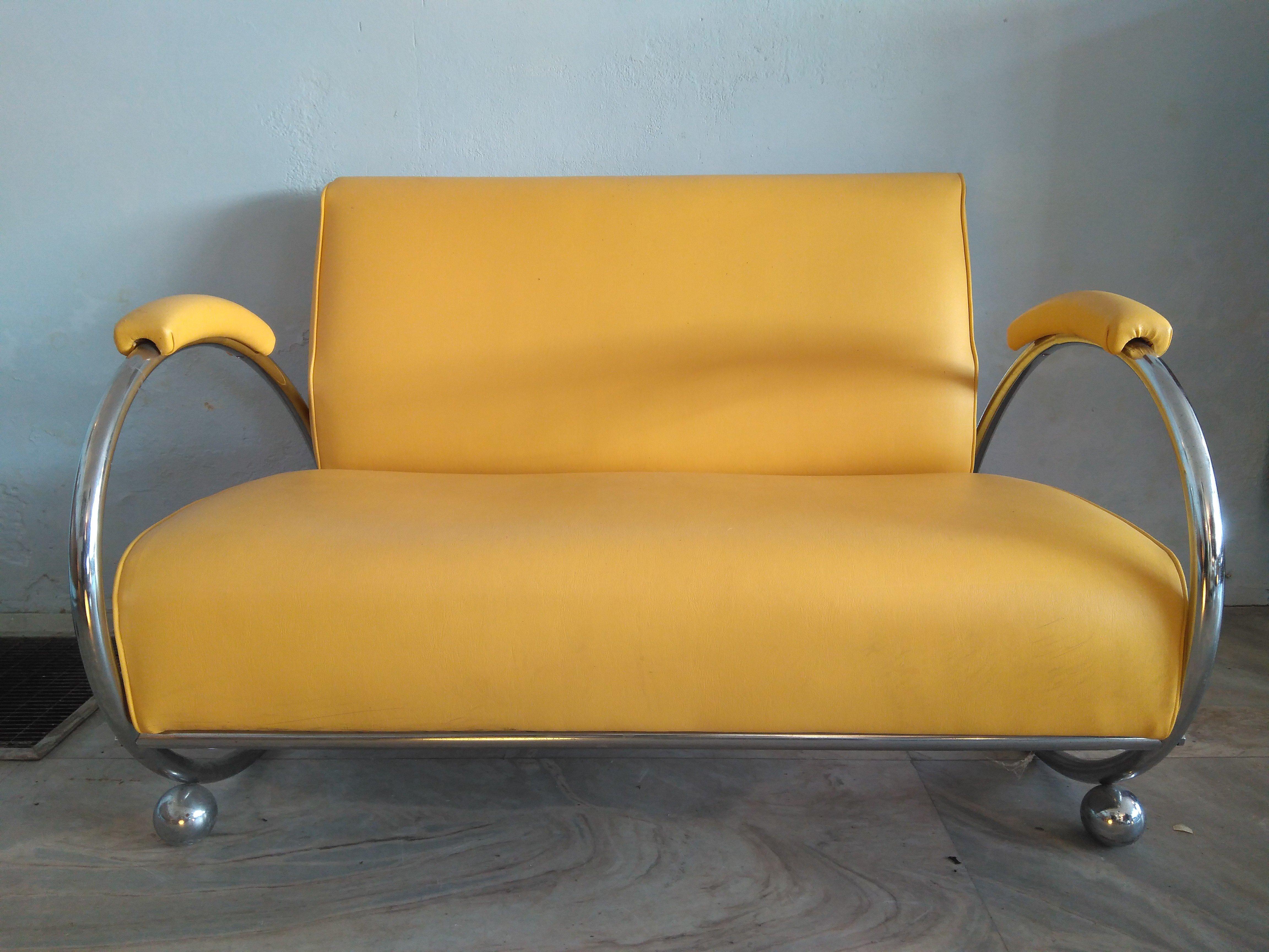 Pastoe Cees Braakman Bankje.El Vinta Sofa Two Seater Gispen Style Furniture Design Vintage